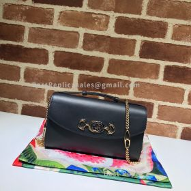 Gucci Zumi Smooth Leather Small Shoulder Bag Black 572375