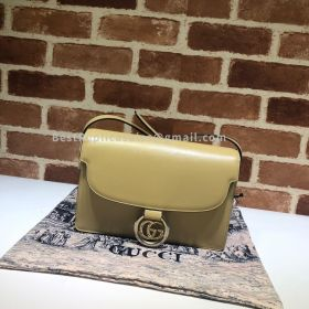 Gucci Leather Shoulder Bag Yellow 589474