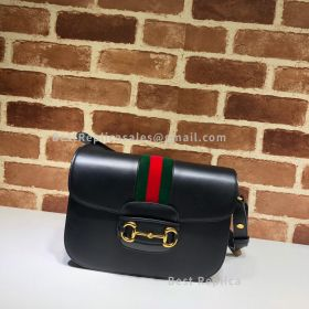 Gucci Horsebit 1955 Shoulder Bag Whit Red And Green Web 602204