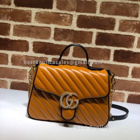 Gucci GG Marmont Small Top Handle Bag Brown 498110
