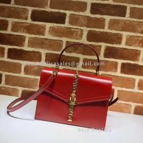 Gucci Sylvie 1969 Small Top Handle Bag Red 602781