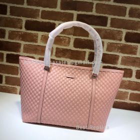 Gucci Micro GG Guccissima Leather Large Joy Tote Bag Pink 449647