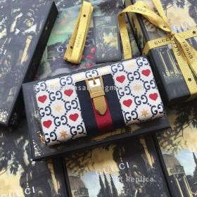 Gucci Chinese Valentine's Day Exclusive Sylvie Leather Zip Around Wallet 476083