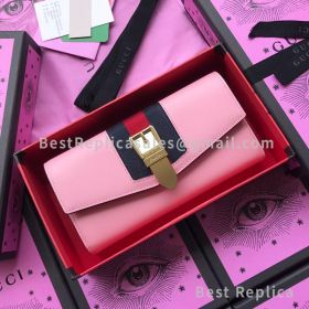 Gucci Sylvie Leather Zip Around Wallet 476083