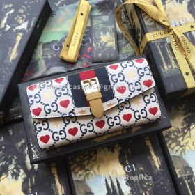 Gucci Chinese Valentine's Day Exclusive Sylvie Leather Continental Wallet 476084