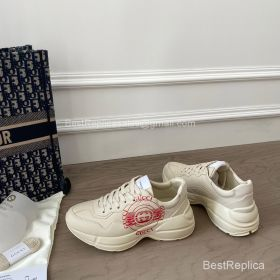 Gucci Rhyton Leather Sneaker with Gucci Logo Print 2191311